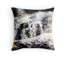 Calder Waterfall, Lochwinnoch Throw Pillow