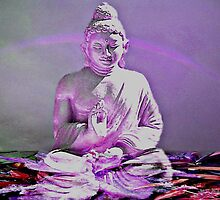 Lavender Buddha blessing by Marilyn Baldey