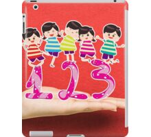 happy Kids Playing with number and on a hand iPad Case/Skin