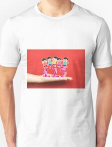 happy Kids Playing with number and on a hand T-Shirt