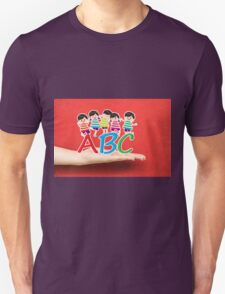 happy Kids Playing with letter and on hand Unisex T-Shirt
