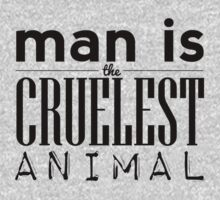 Man is the Cruelest Animal One Piece - Long Sleeve