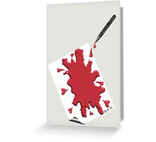 Pen Bleeding On Parchment Greeting Card