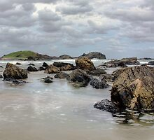Evening at Sawtell Beach, Australia by Wendy  Meder