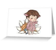 Lil' Napping Foxling Greeting Card