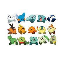 Pokemon Starters Kirby by PollaDorada