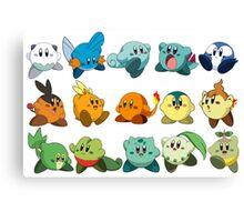 Pokemon Starters Kirby Canvas Print