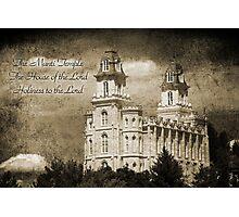 Manti LDS Temple Photographic Print