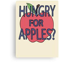 Hungry For Apples? Canvas Print