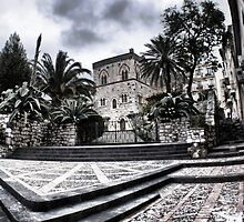 Entrance of Palazzo Duchi di Santo Stefano, Taormina, Sicily by Andrea Rapisarda