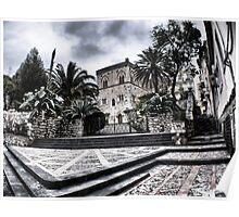 Entrance of Palazzo Duchi di Santo Stefano, Taormina, Sicily Poster
