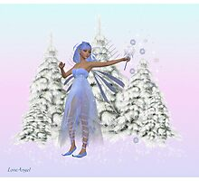 January fairy Photographic Print