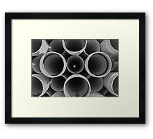 It's a bunch of tubes! Framed Print