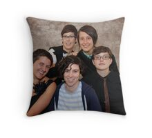 Queer Family Portrait Throw Pillow