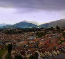 The Lovely Cajas At Dusk - Cuenca Ecuador Sticker
