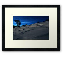 Waves of Winter Framed Print