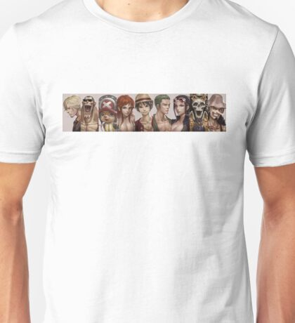 all one piece characters realist Unisex T-Shirt