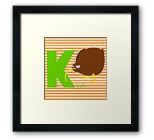k for kiwi Framed Print
