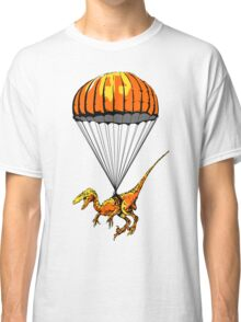 Parachuting Raptor Classic T-Shirt