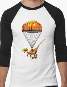 Parachuting Raptor Men's Baseball ¾ T-Shirt
