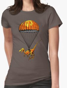 Parachuting Raptor Womens Fitted T-Shirt