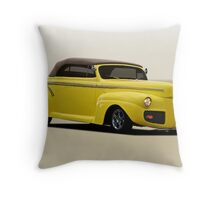 1941 Ford Custom Convertible Coupe Throw Pillow