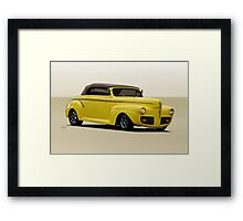 1941 Ford Custom Convertible Coupe Framed Print