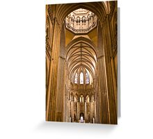Interior of Cathedral Notre Dame de Coutances Greeting Card