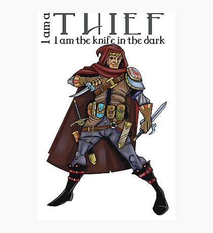 Dungeons and Dragons - the thief Photographic Print