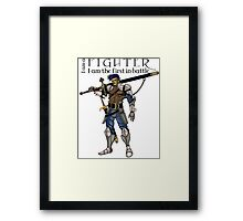 The fighter, dungeons and dragons Framed Print