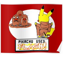 Pikachu Used Flash Poster