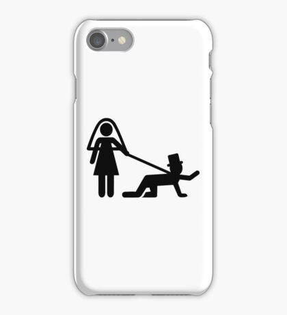 Bride groom slave iPhone Case/Skin