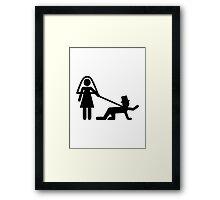 Bride groom slave Framed Print