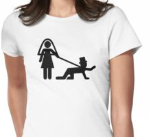 Bride groom slave Womens Fitted T-Shirt
