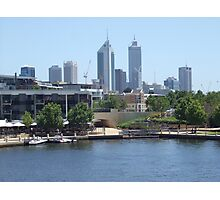 Perth Skyline. East Perth.  Photographic Print