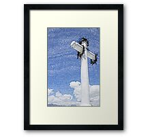 Cross With Wreath in Cotacachi Framed Print