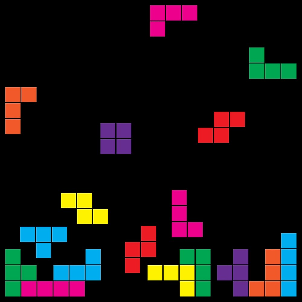 tetris on black by morf