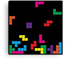 tetris on black Canvas Print