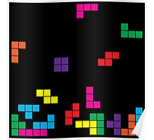 tetris on black Poster