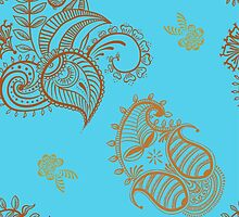 ethnic seamless pattern. Indian ornament, kaleidoscopic flora pattern, mandala. range by OlgaBerlet