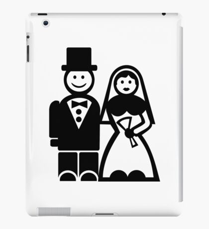 Wedding couple iPad Case/Skin