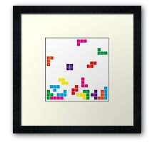 tetris on white Framed Print
