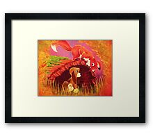 Fox and the Hound Painting Framed Print