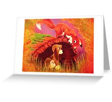 Fox and the Hound Painting Greeting Card