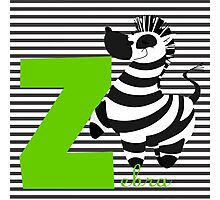 z for zebra Photographic Print