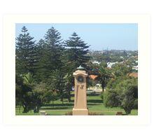 Monument Hill Memorial Reserve. Fremantle. Art Print