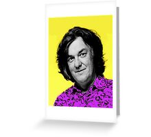 Top Gear Inspired Pop Art James May Greeting Card