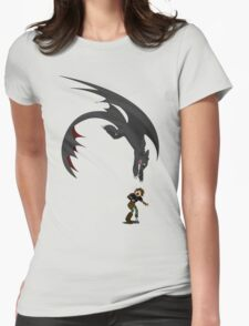 Dragon Pounce Womens Fitted T-Shirt