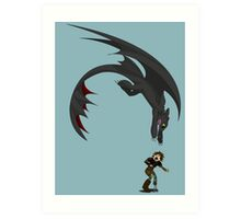 Dragon Pounce Art Print