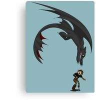Dragon Pounce Canvas Print
